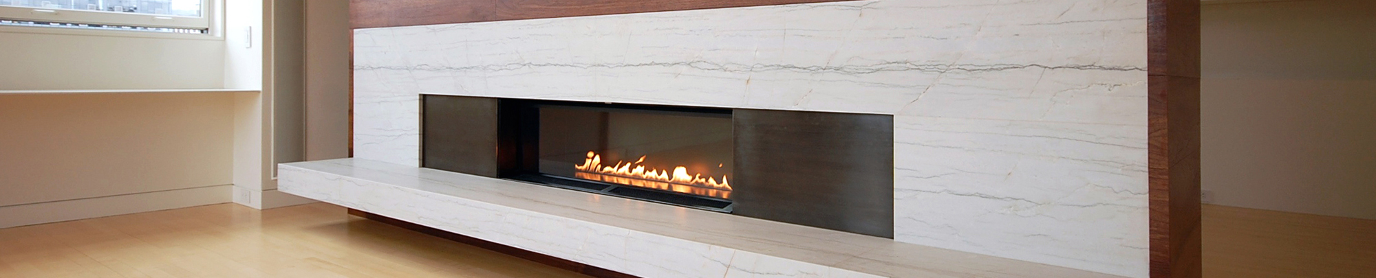 Fire Ribbon Direct Vent Single Vu - Spark Modern Fires