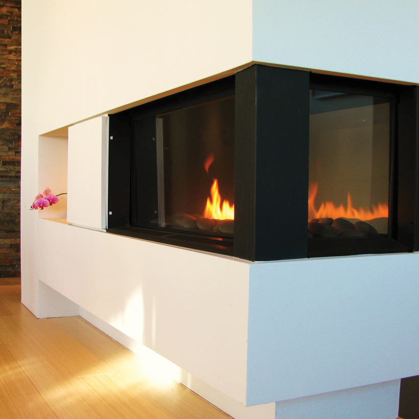 Fire Ribbon Direct Vent Tri Vu Spark Modern Fires