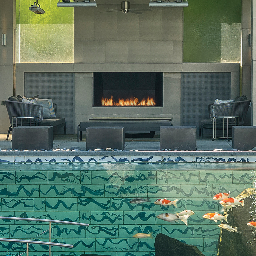 Outdoor Linear Burner Fireplace Fireplaces