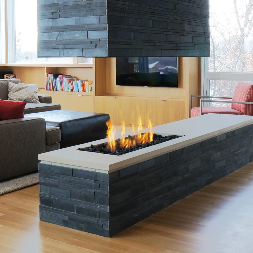 Linear Burner System Indoor Spark, Open Gas Fireplace Indoor