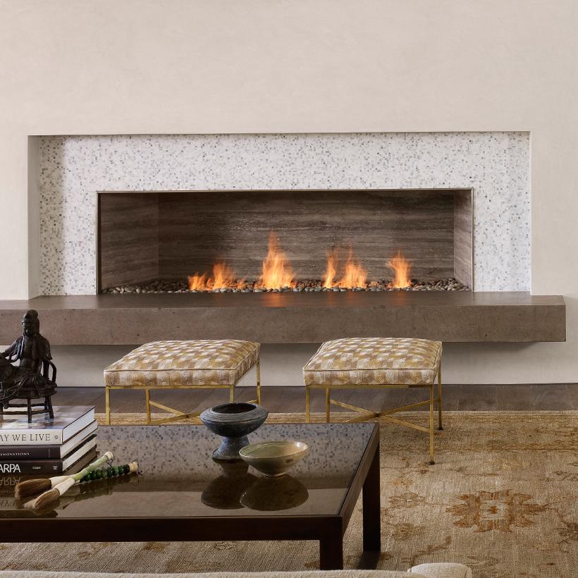 Linear burner system indoor spark modern fires for Indoor fireplace plans