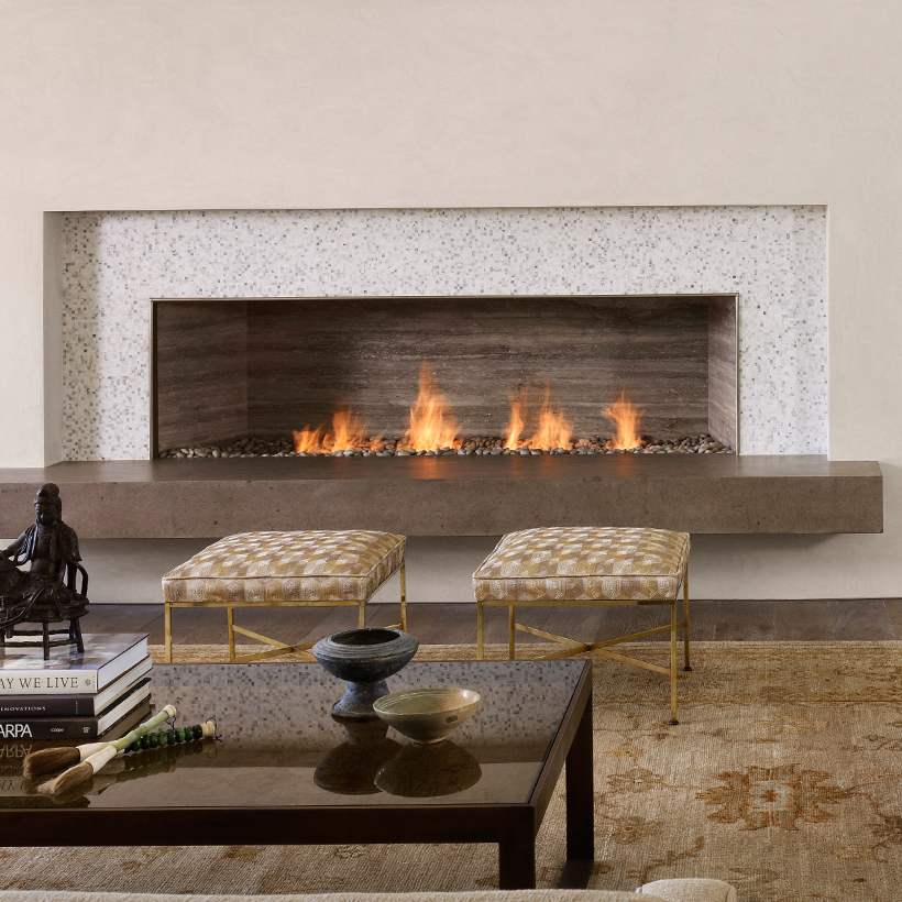 Linear burner system indoor spark modern fires - Contemporary linear fireplaces cover idea ...
