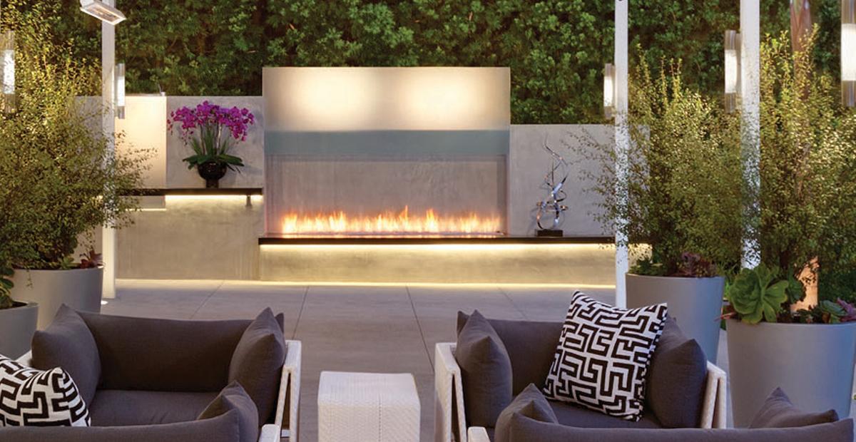 linear burner system - outdoor