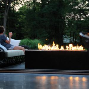 Linear Burner System Outdoor Spark Modern Fires