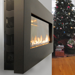 Fire Ribbon Direct Vent Slim Spark Modern Fires