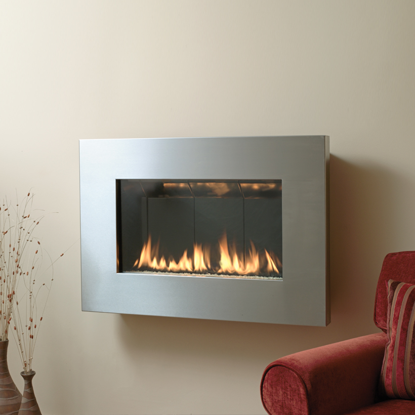 Gas Fireplace shallow gas fireplace : Fire Ribbon Direct Vent Slim - Spark Modern Fires